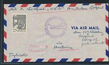 06344) KLM FF Amsterdam - Belgrad 15.4.57, DS ab Schweden