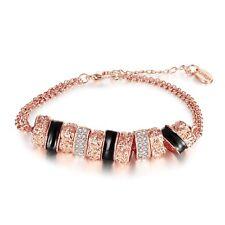 18K Rose Gold Zirconia Adjustable Size 8-8 Inch Bracelet L45