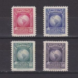 PARAGUAY 1940, Sc #C127-C130, Air mail, MNH