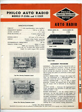 PHILCO  -  P-5506 - C-5509 - AUTO RADIO  SERVICE MANUAL  ORIGINAL BOOK