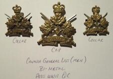 General List Canada Post-WWII Matched Set of 3 Incl 2 Collar Dogs & Cap Badge