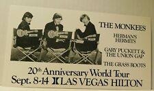 The Monkees 20th Anniversary World Tour with Herman's Hermits, Union Gap Sept 8