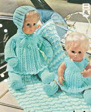 BABY / reborn doll  KNITTING pattern dress matinee pants bonnet blanket 4ply