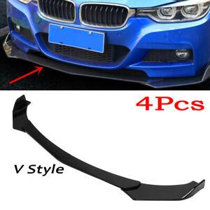 Glossy Black Car Front Bumper Lip Lower Chin Splitter Universal Spoiler Body Kit