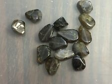 Vintage Destash Grayish Blue Purple Mix Iolite Gemstone Freeform Slab Bead Lot