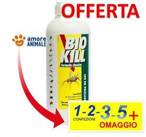BIOKILL - RICARICA 1000 ml - Insetticida NO GAS  1 / 2 / 3 / 5 confez. Bio Kill