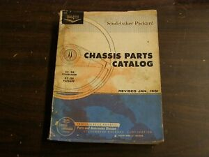 OEM 1955 1956 1958 Studebaker Master Chassis Parts Book 1957 1958 Packard