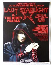 LADY STARLIGHT 2013 Gig POSTER Lady Gaga Portland Oregon Concert After Party