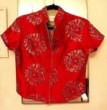 Lovely RED VINTAGE ORIENTAL TOP~Gigi Clark Modern Couture~Size 3