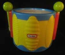 Little Tikes Yellow Tap-A-Tune Drum with 2 Green Drumsticks