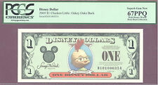 2005 $1 D Disney Dollars CHICKEN LITTLE OAKEY OAKS PCGS 67 PPQ SUPERB GEM PIXIE
