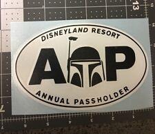 Disneyland Annual Passholder Star Wars Boba Fett Black And White Vinyl Decal