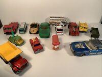 Corgi And Matchbox Vintage 1970s Cars Mixed Bundle X 14