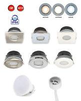 IP44 LED Einbaustrahler Set GU10 Einbaurahmen Deckenstrahler Einbauleuchte