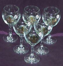 6 Verres à Vin médaillon Fleur de lys en  étain