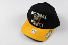 Rare Sample CCM ADIDAS Boston Bruins Hockey Original 6 S/M Fitted Spell Out Hat