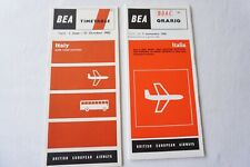 More details for 1962 1965 italy bea airline timetable schedule x2