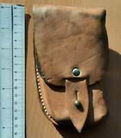 YUGOSLAVIA ARMY SCORPION M-84 OR M-64 LEATHER AMMO POUCH HOLSTER MILITARY CASE