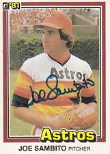 Joe Sambito Signed 1981 Donruss #21 Astros Pitcher Autograph