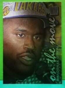 Shaquille O'Neal subset card On The Move 1996-97 Fleer Metal #119