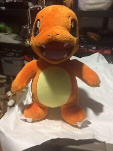 "Official Build A Bear Pokémon Charmander Orange Talking Plush 16"" With Sound"