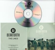BEARTOOTH The Lines 2014 UK 1-track promo test CD