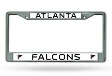 ATLANTA FALCONS NFL Officially Licensed Chrome Auto License Plate Frame
