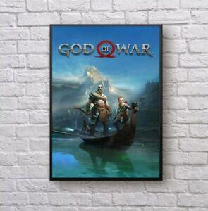 God of War 4 Video Game Wall Decor Poster no Framed, God of War 4 Video Game