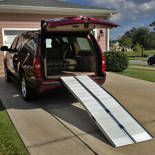 8' Wheelchair Scooter Folding Aluminum Portable Carrier Ramp: 7 9 van handicap