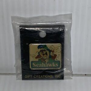 Seattle Seahawks Vintage Tazmanian Devil Hat Pin Rare