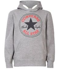 New Boys Converse Chuck Overhead Hoody Hoodie Grey Heather Size XL 13-15 Years
