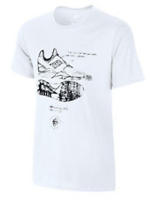 NIKE TRIBLEND HUARACHE SKETCH WHITE GRAPHIC TEE T SHIRT MENS LARGE NWT