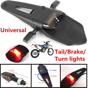 New Motorcycle Modify Rear Fender Brake Tail Light w/Pair Side 9LED Turn Signals
