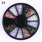3D Nail Art Decoration Chameleon Black Wheel Beads Studs Rhinestone Mixed Tips
