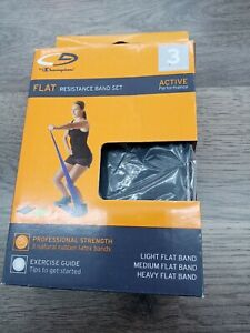 Champion Flat Resistance Band Set of 2 open  Box missing green band!