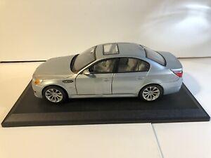 Maisto BMW M5 E60 Silver 1:18 Scale Die Cast Model Car Rare