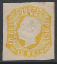 PORTUGAL - 1863,10R pâle orange jaune - 4 MARGES - Excellent état sans gomme -