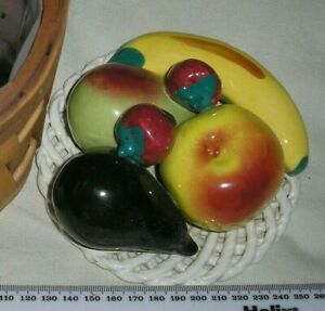 Ceramic Ornament Fruits on Plate