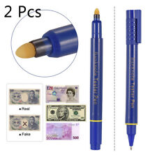 2Pcs Counterfeit Money Detector Fake Dollar Bill Currency Check Pen Marker S8I4