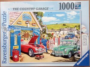 """Ravensburger """"The Country Garage"""" 1000 piece Jigsaw Puzzle  - Complete"""