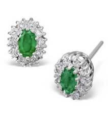 Orecchini con diamanti smeraldo di colore fantasia