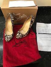 Christian Louboutin (brand New) Leopard print calf hair Pumps Size 39.5 uk 6.5
