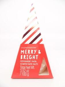 Simplepleasures Merry & Bright Peppermint Swirl Scented Bath Salts 3.52 oz.