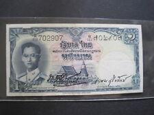 THAILAND 1 BAHT 1955 P74c SIGN 35 BIG #Z RAMA 9 THAI SIAM BANKNOTE PAPER MONEY