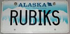 Personalized Alaska White Tree Mountain License Plate RUBIKS