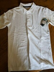 French Toast Official School Wear White Boys Polo Shirt Top Uniform Large 10-12