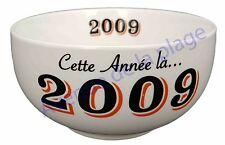 Bol année de naissance 2009 en grès - idée cadeau anniversaire neuf