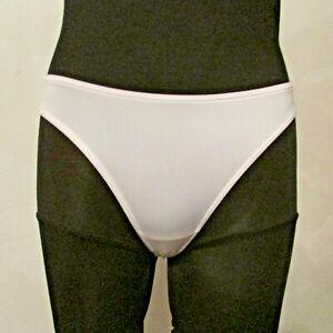 NWT New York & Company 1552 White Stretch Thong V-G-String Bikini Panties Small
