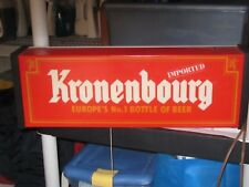 "Kronenbourg Imported Beer Sign 1982 22""x7 1/2""x4"" Pull Cord Light 7' Cord"