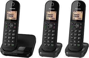 Panasonic KX-TGC413 Digital Cordless Phone with Nuisance Call Blocker – TRIO SET